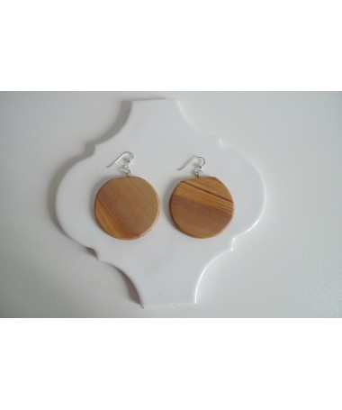 large  wooden earring 3