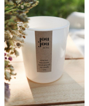 spring soy candle cover