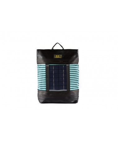 backpack green striped cover