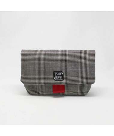 flap md balck white tweed cover