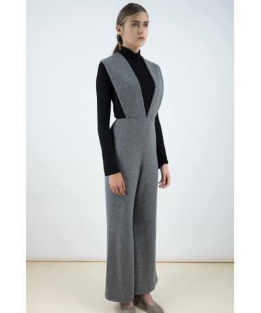 Phoebe Grey jumpsuit in a cashmere blend