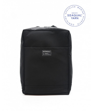 ZAMA Black backpack in recycled fabric
