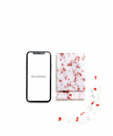 IPIN Mobile phone holder made of recycled material Red and White