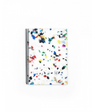 ZURI White Multicolor Eco-friendly notebook made of recycled material