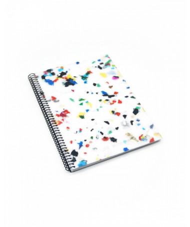ZURI White Multicolor Eco-friendly notebook made of recycled material Ekomodo